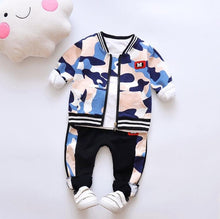 Load image into Gallery viewer, Mix Camo - 3 Pieces Clothing Set (Coat, T-Shirt, Pants)