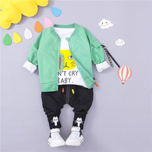 Load image into Gallery viewer, Don't Cry - 3 Pieces Clothing Set (Coat, T-Shirt, Pants)