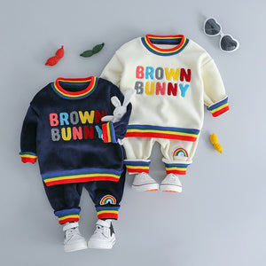 Brown Bunny - Hot Style Kids Casual Winter Plush Set