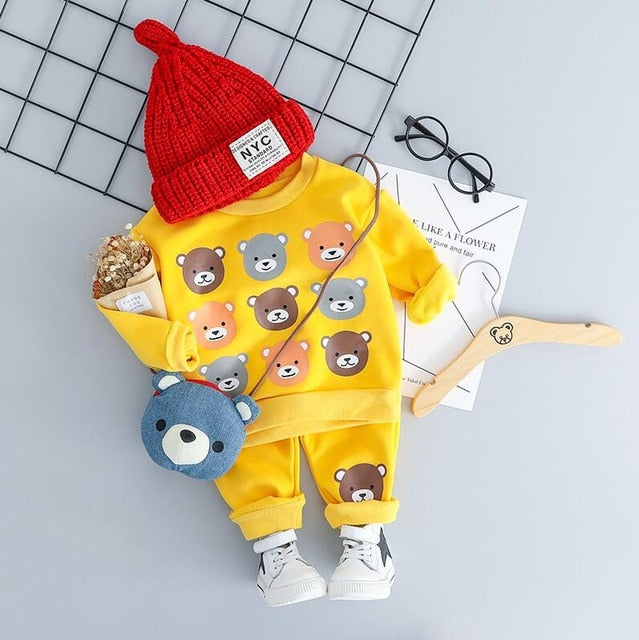 Bearsome - Hot Style Kids Casual Winter Plush Set
