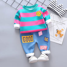 Load image into Gallery viewer, Stripey Smiley - Hot Style Kids Casual Winter Plush Set