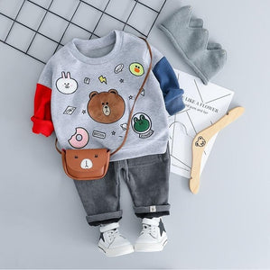 Bear with me - Hot Style Kids Casual Winter Plush Set