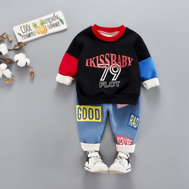 iKiss - Hot Style Kids Casual Winter Plush Set