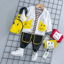 Load image into Gallery viewer, Smiley - 3 Pieces Clothing Set (Coat, T-Shirt, Pants)