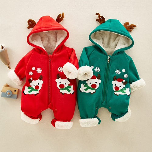Dearie - Christmas Jumpsuits Warm Plush
