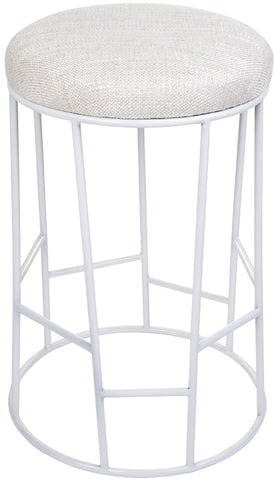 Aiden Kitchen Stool - White - Casa Divano