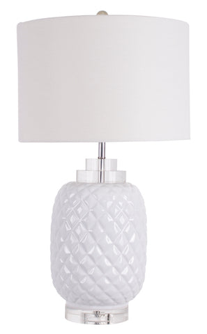 Island White Table Lamp gloss ceramic
