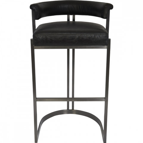 Morgan Bar Stool - Black - Casa Divano