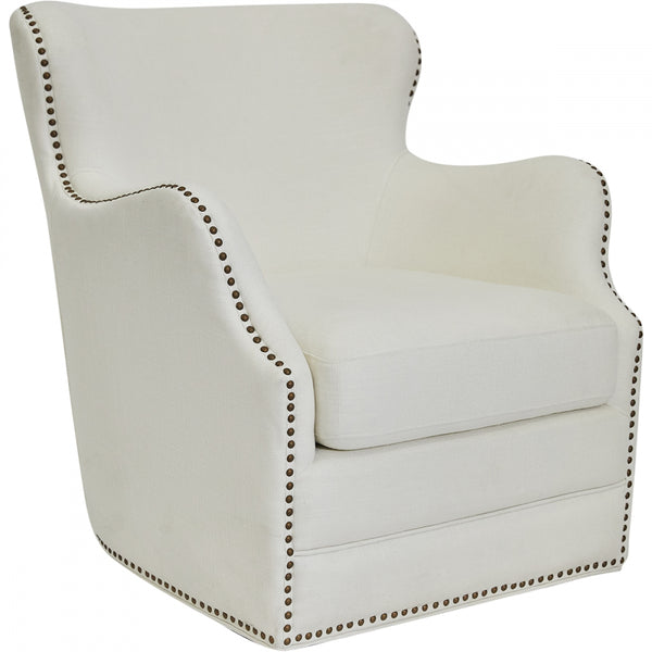 Autumn Swivel Arm Chair - IVORY - Casa Divano