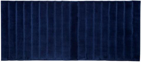 Broadway Panelled Queen Bedhead - Navy Velvet