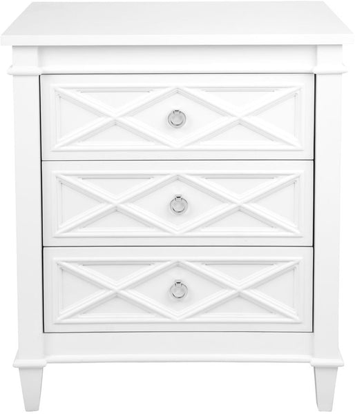 Plantation Bedside Table - Large White - Casa Divano