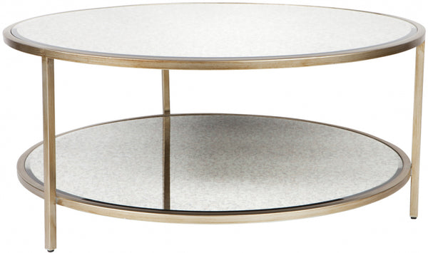 Cocktail Coffee Table - Antique Gold Round - Casa Divano