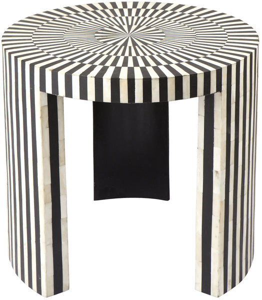 Alfie Bone Inlay Side Table - Casa Divano