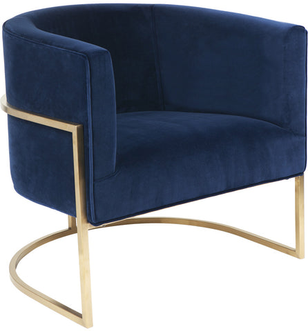 Amoret Arm Chair - Navy - Casa Divano