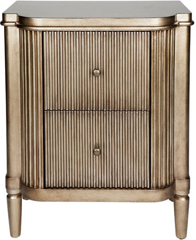 Arielle Bedside Table - Antique Gold - Casa Divano