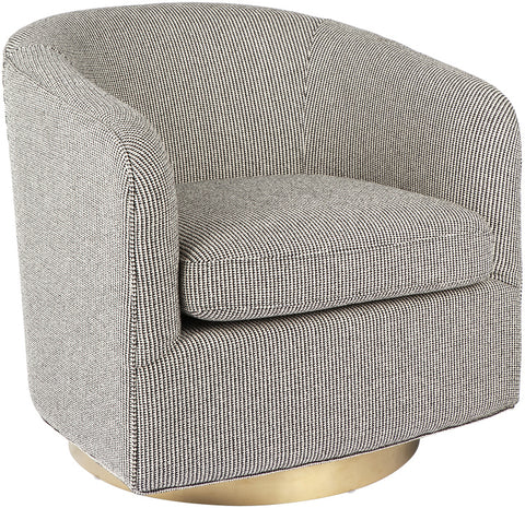 Belvedere Swivel Arm Chair - BLACK - Casa Divano