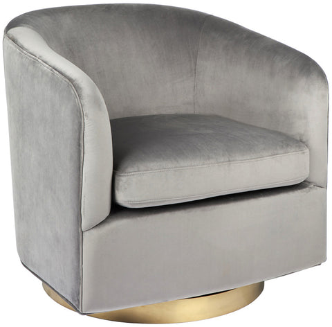 Belvedere Swivel Arm Chair - CHARCOAL - Casa Divano