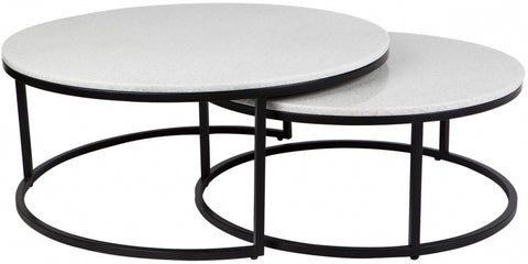 Chloe Coffee Table - Black 2pc - Casa Divano