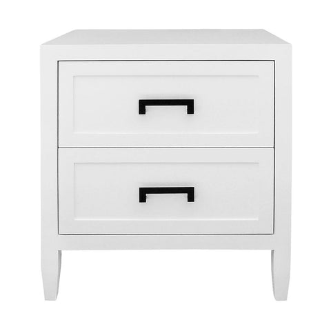 Soloman Bedside Table - Large White - Casa Divano