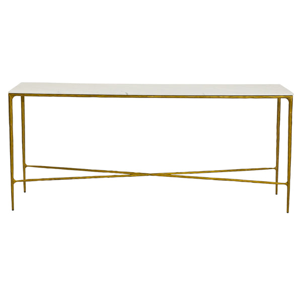 Heston Console Table - Large Brass - Casa Divano