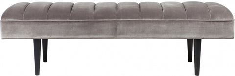 Central Park Panelled Bench Ottoman - Charcoal - Casa Divano