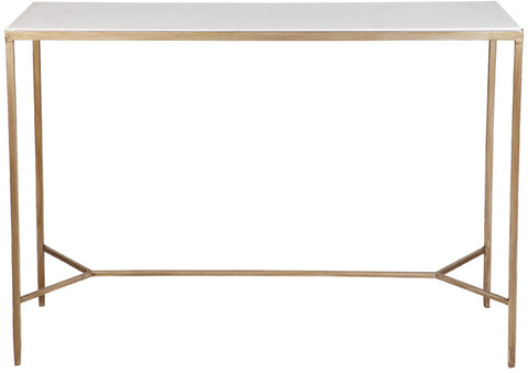 Chloe Marble Console Table - Gold - Casa Divano