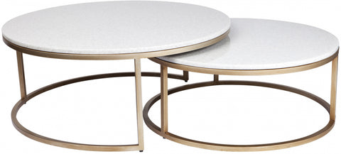 Chloe Coffee Table - Gold 2pc - Casa Divano