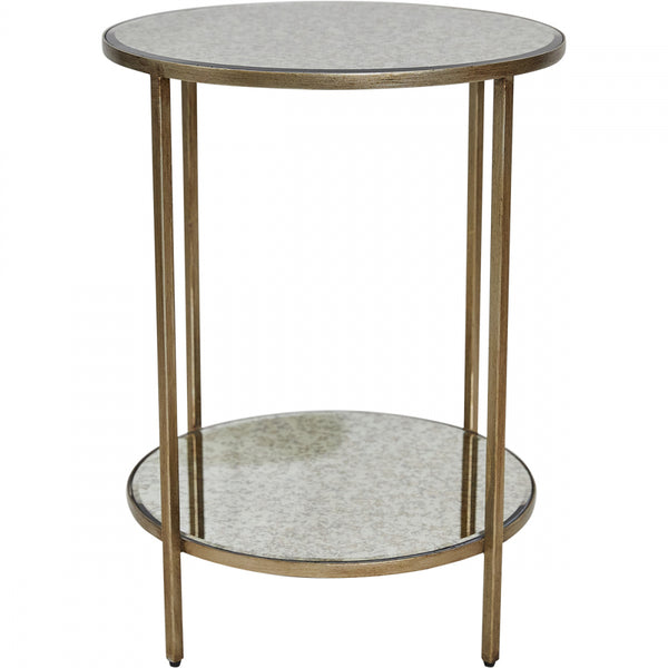 Cocktail Side Table - Antique Gold - Casa Divano