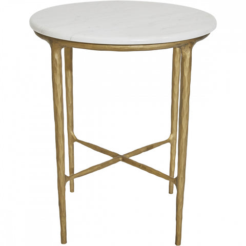 Heston Side Table - Brass - Casa Divano