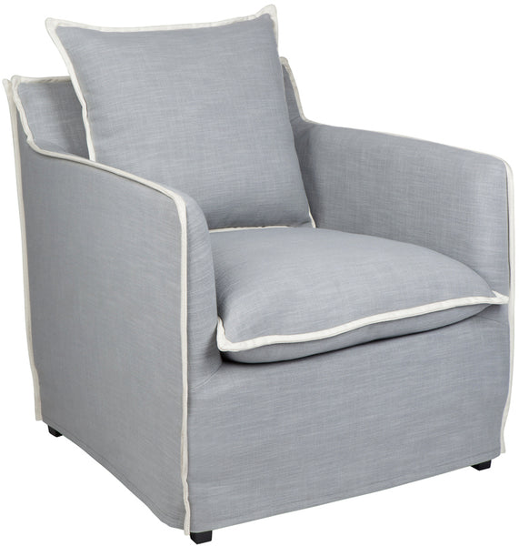 Long Island Arm Chair - Dove Grey - Casa Divano