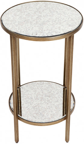 Cocktail Side Table - Petite Antique Gold - Casa Divano