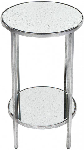 Cocktail Side Table - Petite Silver Leaf - Casa Divano