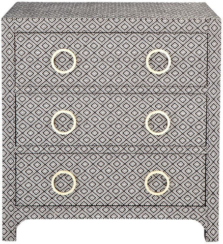 Raffles Upholstered Bedside Table - Casa Divano