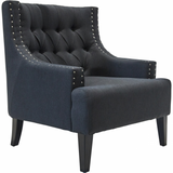 Sloane Arm Chair - BLACK - Casa Divano