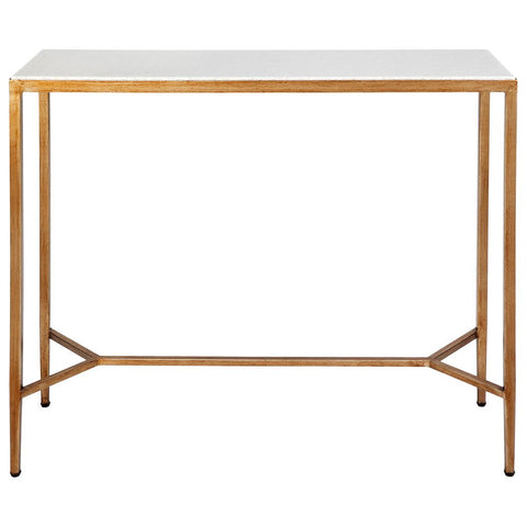 Chloe Marble Console Table - Small Gold - Casa Divano