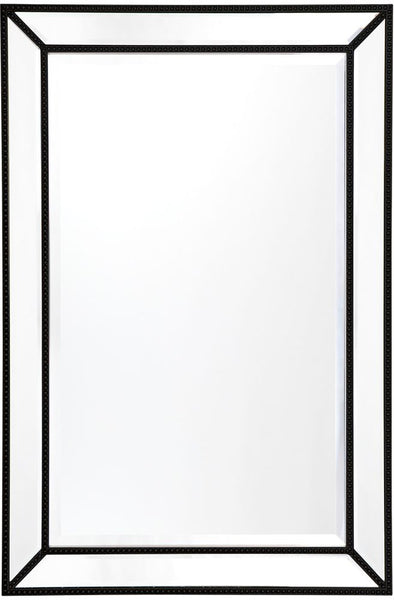 Zeta Wall Mirror - Medium Black - Casa Divano