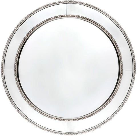 Zeta Wall Mirror - Round Antique Silver - Casa Divano