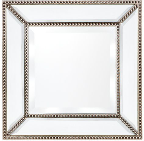 Zeta Wall Mirror - Small Antique Silver - Casa Divano