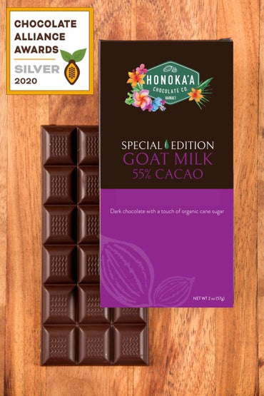 Goat Milk 55% Bar: Chocolate Alliance Awards Silver Medal