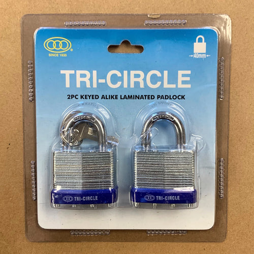 Laminated Padlock Twin Pack - 40mm