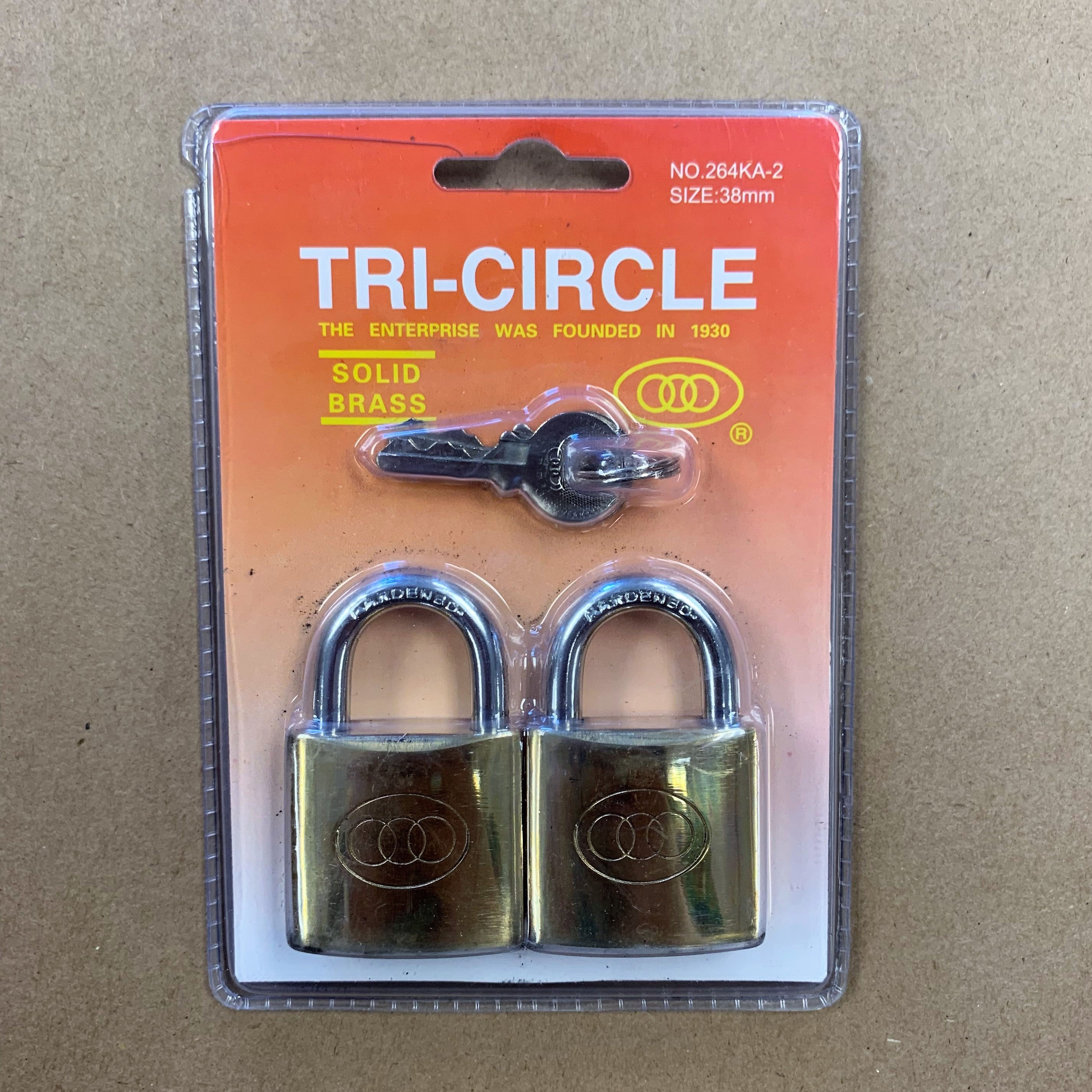 Brass Padlock Twin Pack - 38mm