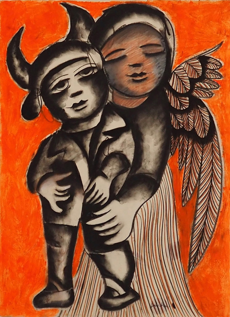 Angel Loving a Baby Devil. c.1978