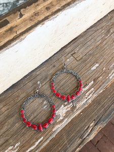 Red / Silver Hoops