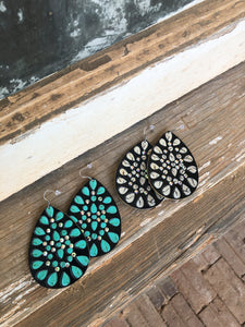 Bling Leather Earrings