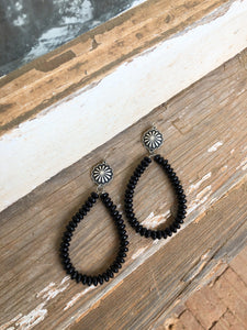 Black Concho Teardrops