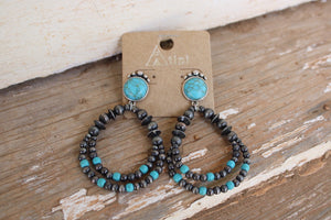 Navajo / Turquoise Layered Teardrops