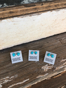 Sterling Turquoise Studs