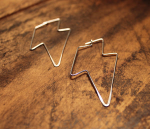 Sterling Silver Lighting Bolt Earrings