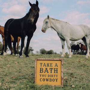 Take A Bath Sign - Mustard
