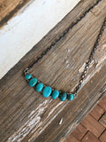 Stamped Turquoise Necklace